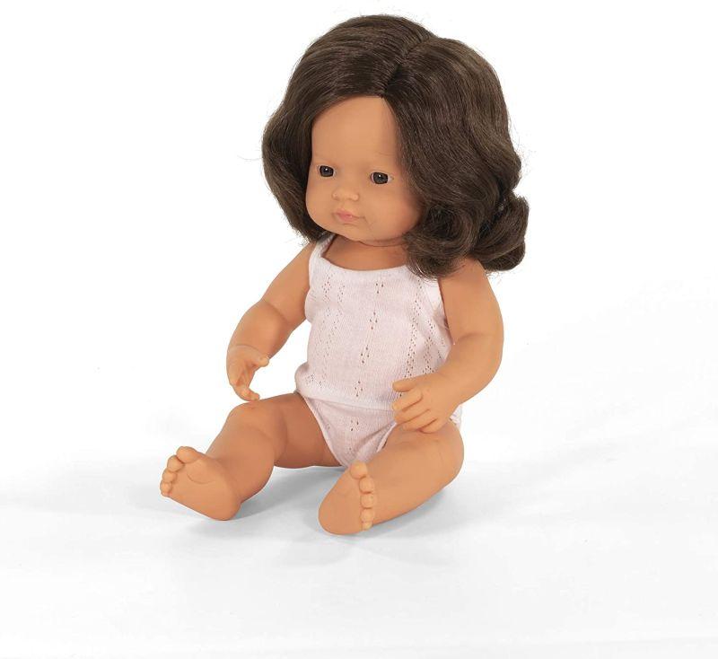 lalka europejka brązowe włosy Miniland