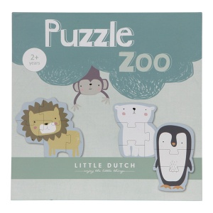 Puzzle Zoo, 6 elementów - Little Dutch